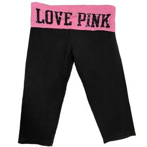 PINK victorias secret crop yoga pants